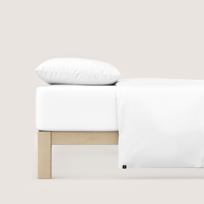 Spannbettlaken auf einem Bett