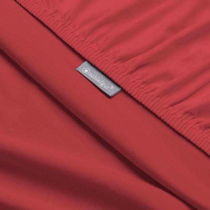 rotes Spannbettlaken Jersey Basic by schlafgut aus Baumwolle