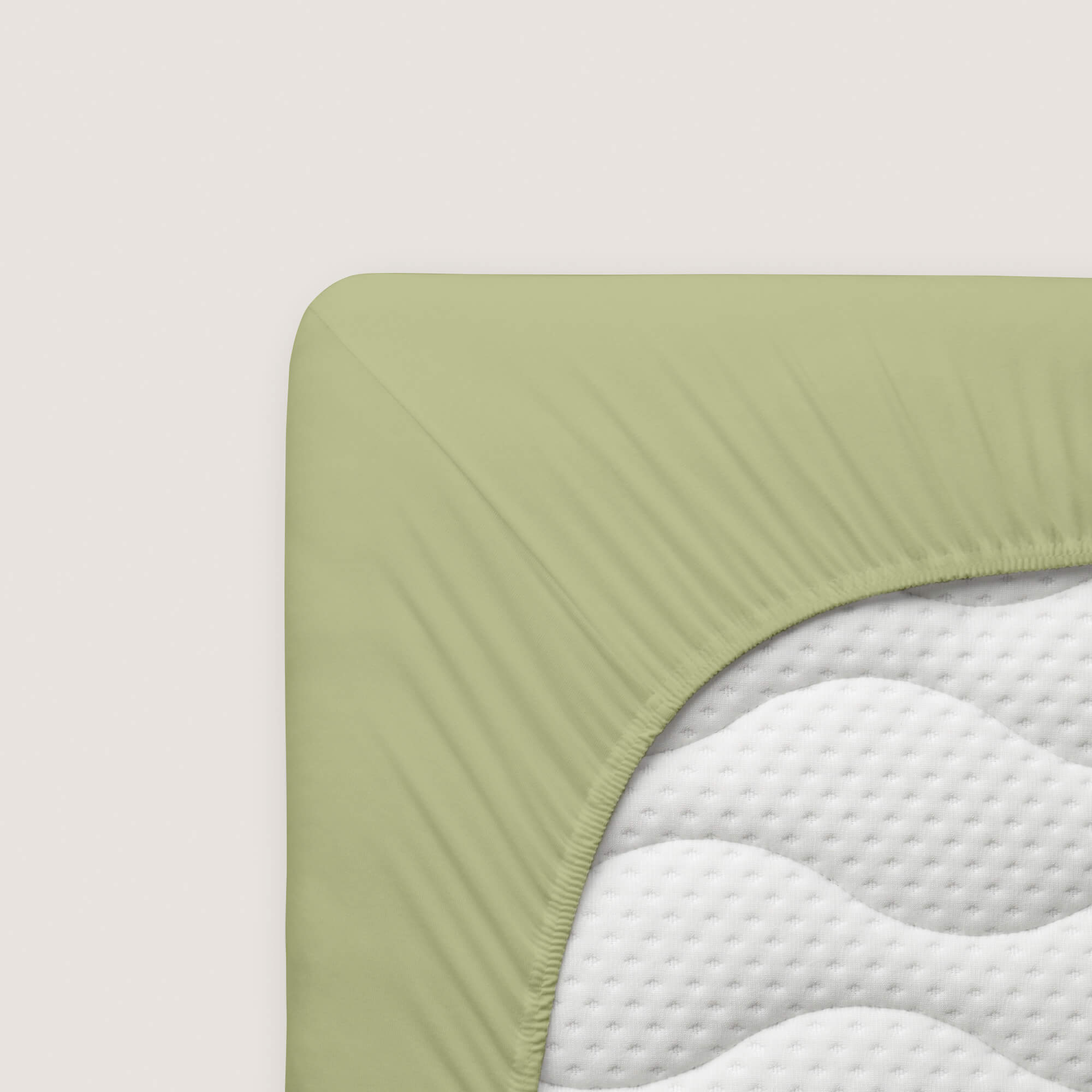 grünes schlafgut Spannbettlaken Mako Jersey aus Baumwolle