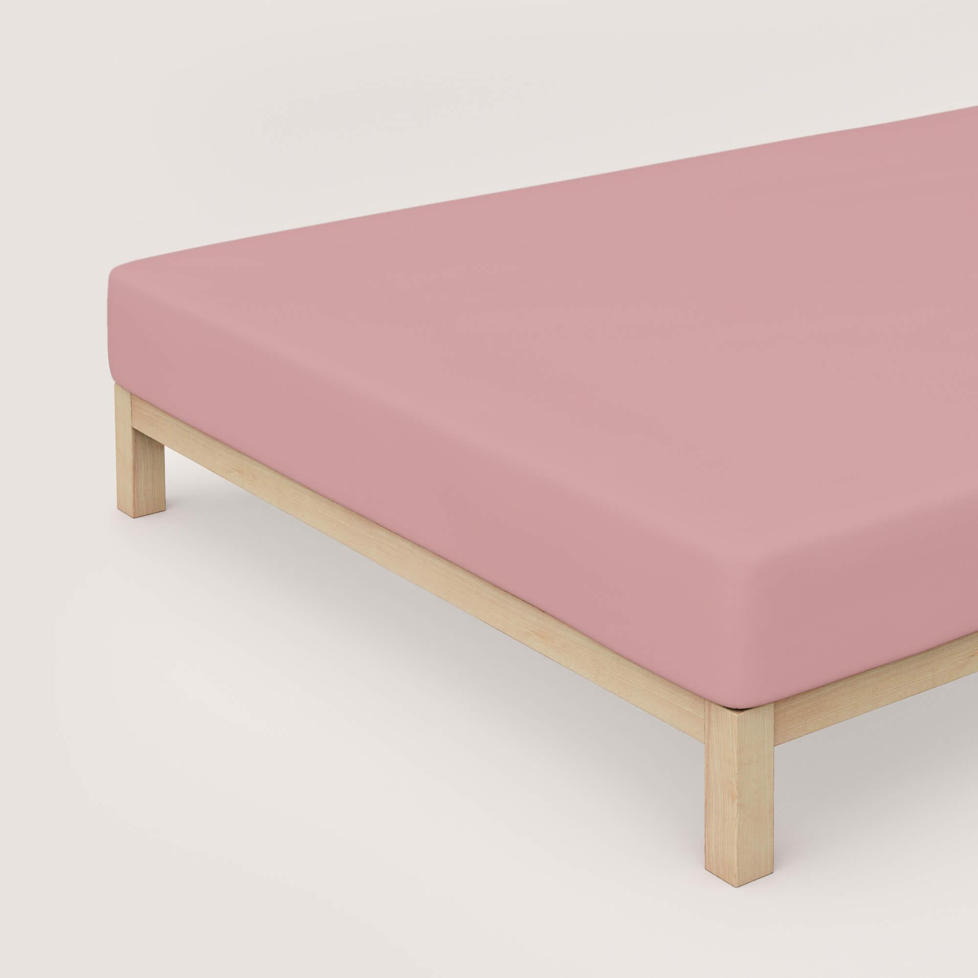 rosa schlafgut Spannbettlaken Zwirn Jersey Premium aus Baumwolle/Elasthan